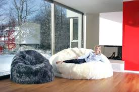 Big Fluffy Bean Bag Sheepskin Chairs Large Furry
