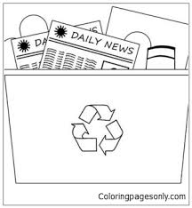 Recycling Bin 1 Coloring Page