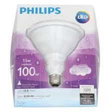 philips 435016 15 watt indoor outdoor par38 dimmable led light