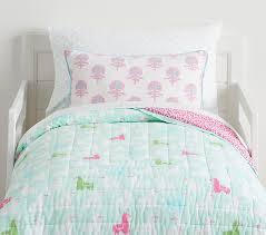 Organic Libby Llama Wholecloth Toddler Bedding