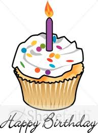 288x388 Birthday Candle Clip Art Happy Birthday Cupcake With Candle And