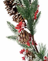 Silvertip Fir Christmas Tree Artificial by Frosted Artificial Fir Branch Christmas Garland Red Conifer Cone