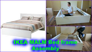 Ikea Brusali Wardrobe Instructions by Ikea Malm Double Bed Frame Assembly Youtube