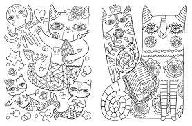Cat Adult Coloring Book 4