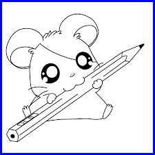 Appealing Coloring Of Kawaii Puppy Page Hamster In Cute Picture For
