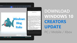e installazione di windows 10 creators update per pc