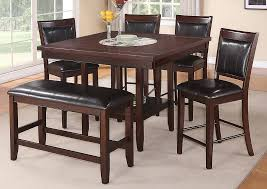 Fulton Counter Height Dining Room Table W 4 Chairs And Bench Crown