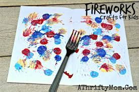 Painting Arts And Crafts Ideas Painted Fireworks Quick Easy 4th