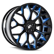 100 Rims Truck FORGIATO 20 EXOTIC DreaECL New Black Blue Explore Classy