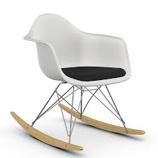 Vitra RAR With Upholstery Black 2014 Herman Miller Eames Rar Rocking Arm Chairs In Very Good Cdition White Rocking Chair Charles Ray Eames And For Vintage Brown By C Frank Landau For Sale Rope Edge Chair 1950s Midcentury Modern Rar A Pair 1948 Retro Obsessions