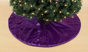 Kmart Christmas Tree Skirt by Trim A Home Purple Satin Tree Skirt With Embroidered Snowflake