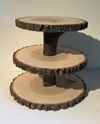Rustic Wedding Cupcake Stand Wood Slice Treat Display Large Log