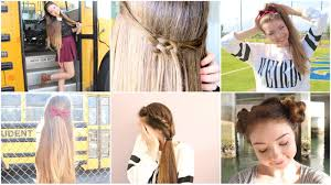 5 Quick N Easy Back To School Heatless Hairstyles