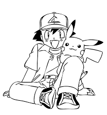 Friends From Pokemon Anime Coloring Pages For Kids Printable Free In Color Boys