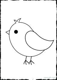 Coloring Page Bird Cockatiel Birds Templates Printable Simple Pages Angry