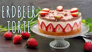 erbeertorte backen erdbeer vanilletorte rezept erdbeerkuchen mit pudding selber machen