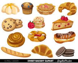 Bakery clipart Sweet Treat Bakery clip art Breakfast clipart Dessert Vector graphic Desserts Clipart Cake Clip art
