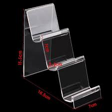 Acrylic Mobile Phone U Disk Jewelry Display Stand Holder Digital Products Purse Wallet Rack Showcase Organizer
