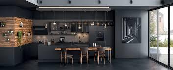 cuisine moderne cuisine moderne îlot type loft ambiance black mobalpa