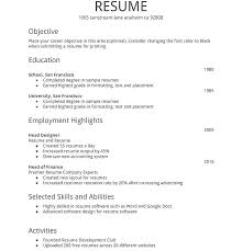 How To Write A Resume Samples Sample Simple Format For Fresh Graduate Accounting Writing Professional Examples