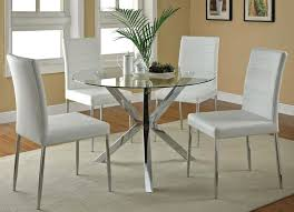 Small Round Dining Table And Chairs Elegant For 4 Kitchen With Lea