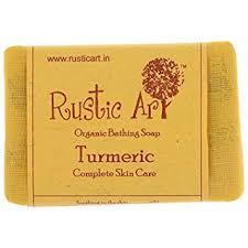 Rustic Art Organic Turmeric Soap 100 Grams