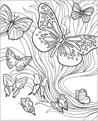 Butterflies Coloring Pages Adult Book Monarch Butterfly Caterpillar Page