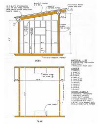 10x12 lean to storage shed plans details sheds coops