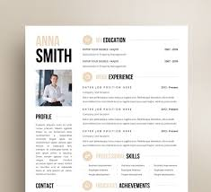 Cv Template For Word Resume Modern Instant Printable Free Downloads