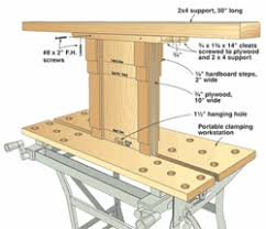 portable workbench with table woodworking plans and information at