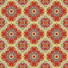Vector Seamless Pattern Colorful Ethnic Ornament Arabesque Style Illustration