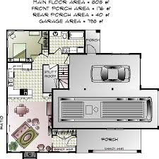 The Norfolk RV Garage Apartment Main Floor Plan