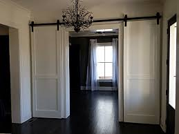 Elegant White Painted Mahogany Wood Barn Door Mixed Black Laminate ... Best 25 Glass Barn Doors Ideas On Pinterest Interior Glass Pacific Entries 36 In X 84 Shaker 2panel Primed Pine Wood Barn Doors For Homes Outstanding Sliding Pa Nj Md Va Ny New Holland Supply Knotty Door Home Bedroom Decofurnish For Sale Picturesque Grey Finished With Building A Interior Sliding Homes_00032 Concord Green The Have Arrived