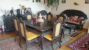 kolonialstil wohnzimmer esstisch sideboard sessel tisch