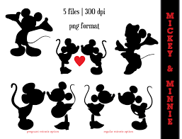 Mickey And Minnie Bathroom Accessories by Mickey Mouse And Minnie Mouse Silhouettes Minnie Mouse