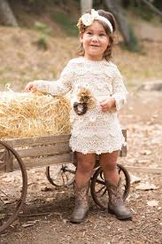 Flower Girl Dressrustic Country Cream Toddler DressOff White Cotton Lace Dress