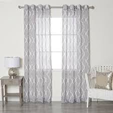 amazon com best home fashion grey sheer moroccan print grommet