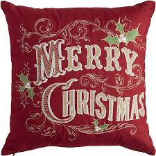 merry christmas pillow red pier 1 imports start 1 sz