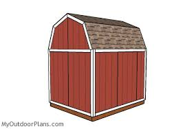 8 X 10 Gambrel Shed Plans by 8x10 Gambrel Shed Plans Myoutdoorplans Free Woodworking Plans