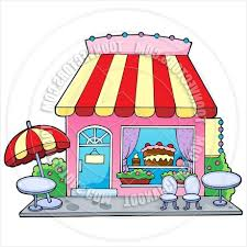 Patio Chair With Umbrella Get Cartoon Bakery Shop By Clairev Toon Vectors Eps 37480