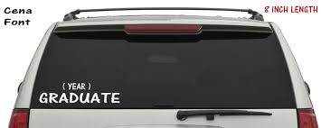 100 Back Window Decals For Trucks Graduate Handmade Vinyl Lettering Cena Font Add Your Year Decal