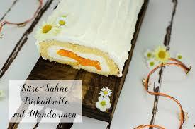 käse sahne biskuitrolle mit mandarinen marion s kaffeeklatsch