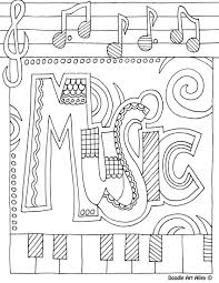Music Coloring Page Colouring In Sheets Inside Musical Pages