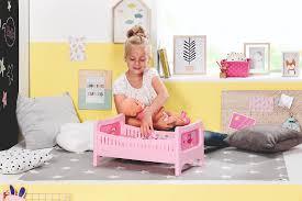 zapf creation baby born bett mit kuschelbettzeug 824399