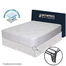Amazon King Bed Frame And Headboard by Amazon Com Best Price Mattress 12 Inch Memory Foam Mattress And