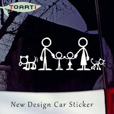 100 Truck Window Stickers 218CM Family Picture Car Cartoon Funny Creative