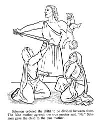 Bible King Coloring Pages