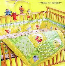 sesame street babyking elmo friends three 3 pc crib bedding