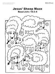 Good Shepherd Sheep Bible Crafts Clipart