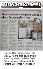 Dolly Shepherd 2017 On This Day